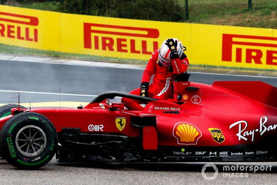 Charles Leclerc, Ferrari SF21 retires from the race