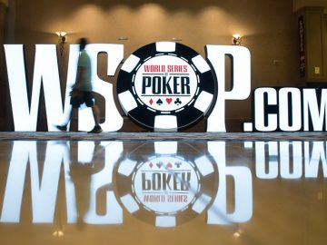 WSOP.com sign at the Rio in Las Vegas